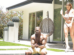 Brooklyn Chase, busty cougar, is inseminated by black muscle stud