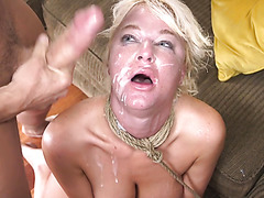 Thicc whore wife London River is brutally DPed