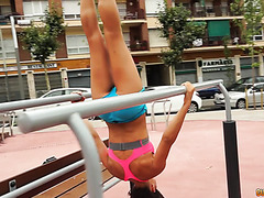Fit mom Alexa Tomas gets dicked down after a street workout