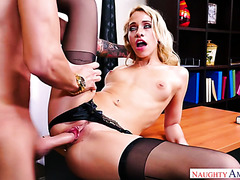 Secretary Khloe Kapri is owned by married boss in the office