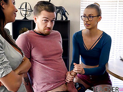 Curvy tutor Alexis Fawx is smashed by monster dicked student