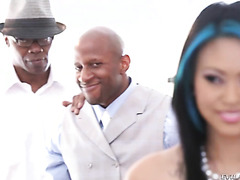 Krissie Dee gets her Asian holes DPed to gaping by big black cocks