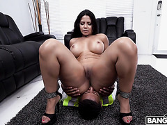 Rose Monroe, Venezuelan mistress, smothers black boy with her big booty