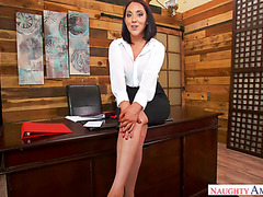 POV - asstastic boss lady Nickey Huntsman fucks lucky employee