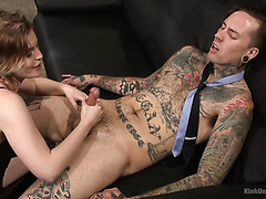 Ella Nova gives a detailed ass eating and handjob masterclass