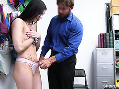Sadie Blake orgasms on mall cop's fat dick for shoplifting