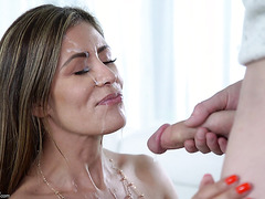 MILF landlord Alexa Vega wants young tenant's huge cock