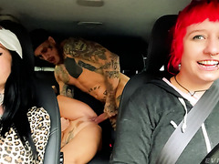 Czech MILF Brittany Bardot - Backseat Squirting and Lesbian Fisting
