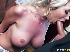 British MILF with massive boobs getting her ass violated at a wedding