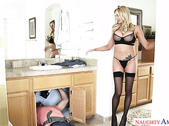 Dirty German MILF Briana Banks fucks the plumber in her house