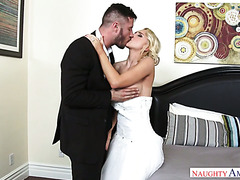 Gorgeous bride Alix Lynx got fucked on first wedding night