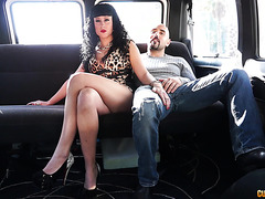 Spanish mom Nadia Fernandez is fisted and power fucked in minivan