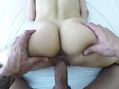 Young skinny hottie Rebel Lynn is fucked in terrific POV