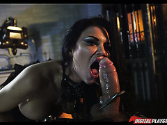 Steampunk hottie Jasmine Jae gets fucked by a gigantic prick