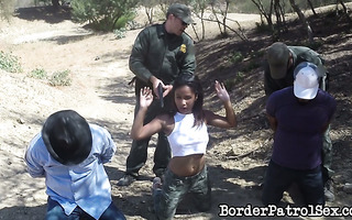 Immigrant cutie Loni Legend failed at border crossing but succeeded at being cum whore