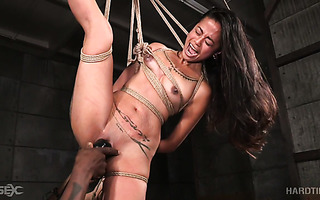 Insane Chilly Carlita loves getting tied up and toyed hard