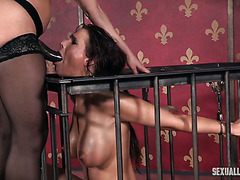 Mature Syren De Mer gets her twat smashed by a big dick and a strapon