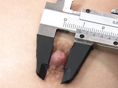 Moka Minaduki gets measured with a ruler and toyed with a massager