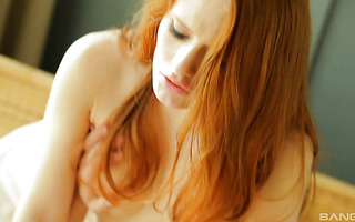 Delightful redhead babe Chery if full of passion during morning sex