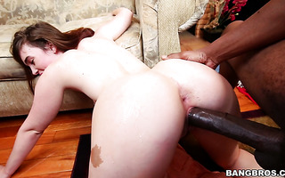 Jodi Taylor is creaming as a big black cock is ripping her pussy out
