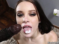 Brutal black dude with huge black jackhammer crushes Lana Rhoades' poon