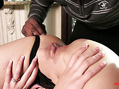 Slutty Kate Alton cheats on her freaky husband with a manly black dude