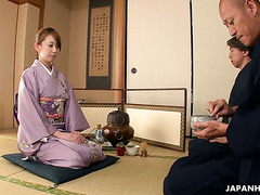 Fucked up tea ceremony with geisha Yui Saejima