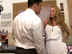 Bad housewife Stacey Saran gets punished by getting fucked hard